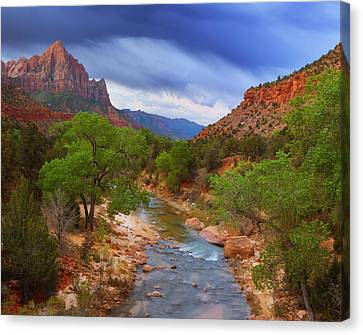 A Zion Morning Canvas Print
