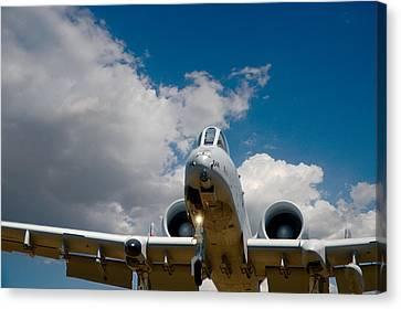 A10 Warthog Approach Landing Canvas Print