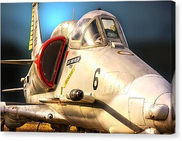 A4 Skyhawk Attack Jet Canvas Print