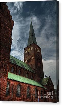 Aarhus Church Hdr 03 Canvas Print by Antony McAulay