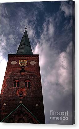 Aarhus Church Hdr 05 Canvas Print by Antony McAulay