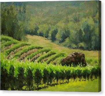 Abacela Vineyard Canvas Print by Karen Ilari