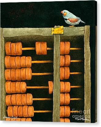 Abacus Finch... Canvas Print by Will Bullas