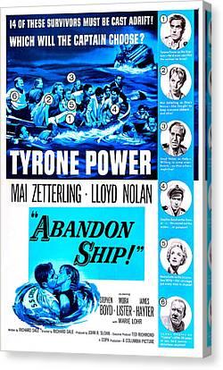 Abandon Ship, Aka Seven Waves Away, Us Canvas Print by Everett