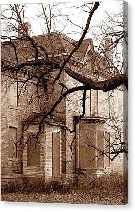 Abandoned 19th Century House Canvas Print by Jim Hughes