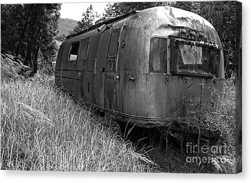 Abandoned Airstream In The Jungle Canvas Print