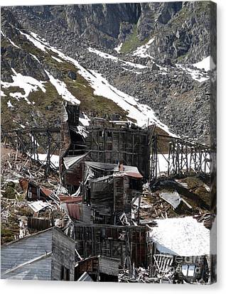 Abandoned Alaskan Gold Mine Canvas Print by Dani Abbott