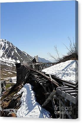 Abandoned Alaskan Gold Mine Track IIi Canvas Print by Dani Abbott