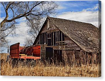 Antique Automobiles Canvas Print - Abandoned And Crestfallen by Nikolyn McDonald