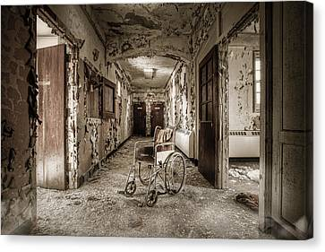 Abandoned Asylums - What Has Become Canvas Print by Gary Heller