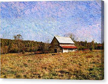 Canvas Print featuring the photograph Abandoned Barn In North Georgia by Vizual Studio