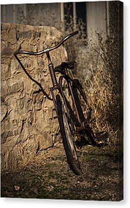 Abandoned Bicycle Canvas Print by Amber Kresge