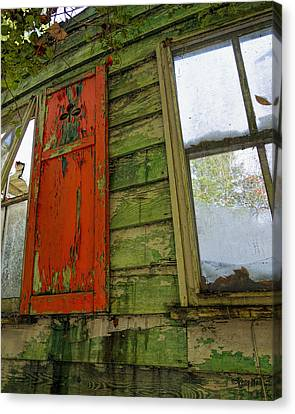 Abandoned Cabin Elkmont - Coming Down Clover Canvas Print by Rebecca Korpita