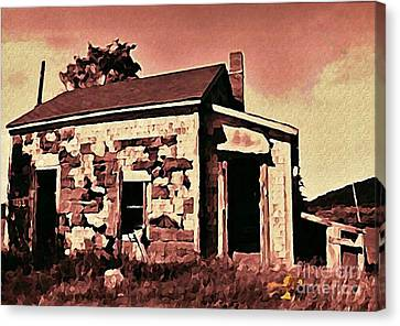 Abandoned Cape Breton House Canvas Print by John Malone