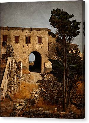 Abandoned Castle Canvas Print by Christo Christov