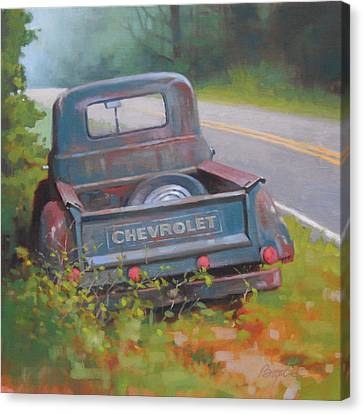 Abandoned Chevy Canvas Print by Todd Baxter
