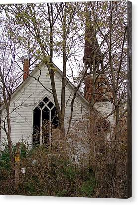 Abandoned Church Canvas Print by Cassie Peters