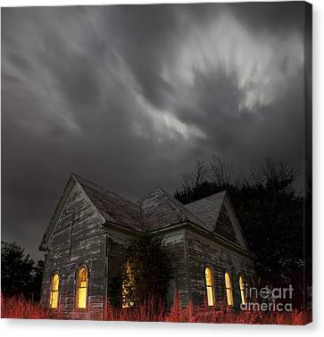 Canvas Print featuring the photograph Abandoned Church Of Walters Oklahoma by Keith Kapple
