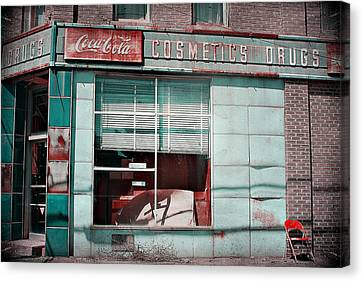 Abandoned Drug Store Canvas Print by DeeLusions Photography