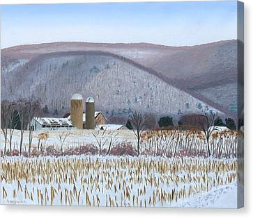 Abandoned Farm In The Mountain's Shadow Canvas Print