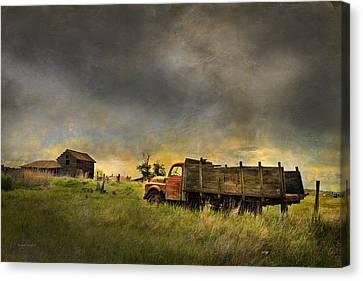 Ruin Canvas Print - Abandoned Farm Truck by Theresa Tahara