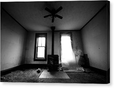 Abandoned Fireplace Canvas Print