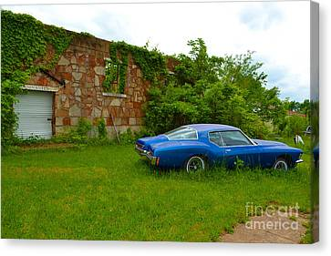 Canvas Print featuring the photograph Abandoned Gym And Car by Utopia Concepts