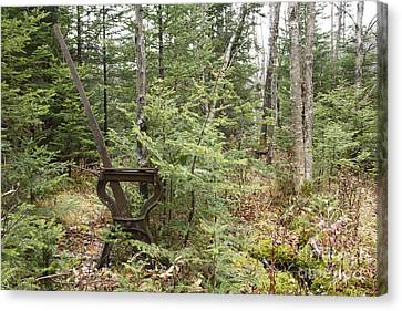 Abandoned Harp Switch Stand - New England Usa Canvas Print by Erin Paul Donovan
