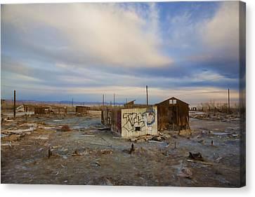 Abandoned Home Salton Sea Canvas Print by Hugh Smith