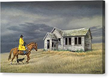 Abandoned Homestead-eastern Idaho Canvas Print by Paul Krapf