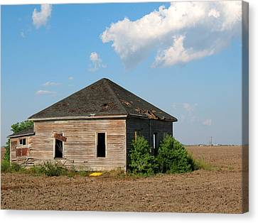 Abandoned House Canvas Print by Connie Fox