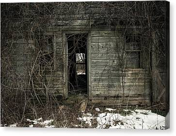Abandoned House - Enter House On The Hill Canvas Print by Gary Heller