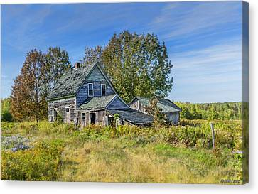 Abandoned House In Wentworth Valley Canvas Print