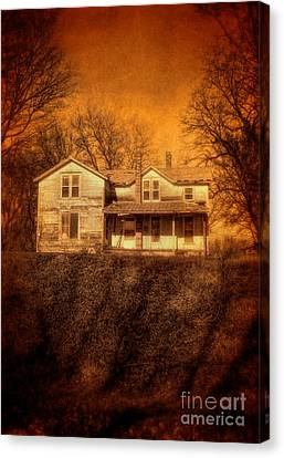 Abandoned House Sunset Canvas Print by Jill Battaglia