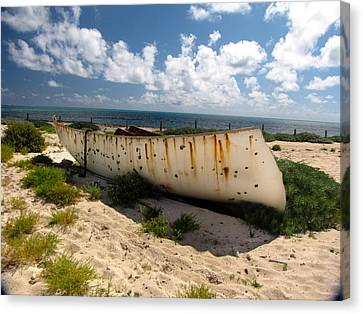 Abandoned In Grand Turk Canvas Print by Denise Keegan Frawley