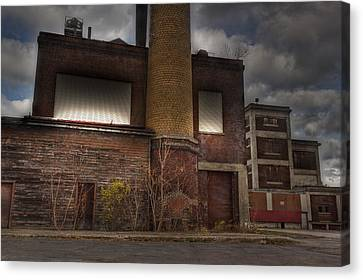 Abandoned In Hdr 2 Canvas Print by Tim Buisman