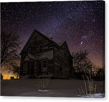 Abandoned House Canvas Print - Abandoned In The Cold by Aaron J Groen