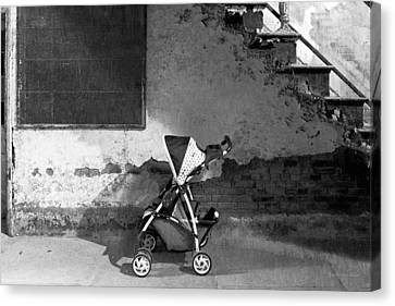 Go Cart Canvas Print - Abandoned - Left Behind  by Mike Savad