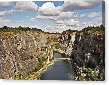 Lime Canvas Print - Abandoned Lime Quarry by Martin Capek