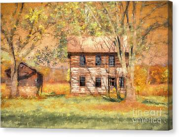 Log Cabin Canvas Print - Abandoned by Lois Bryan