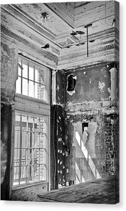 Canvas Print featuring the photograph Abandoned Memories by Davina Washington