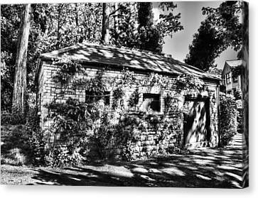 Abandoned Mono Canvas Print by Steve Purnell