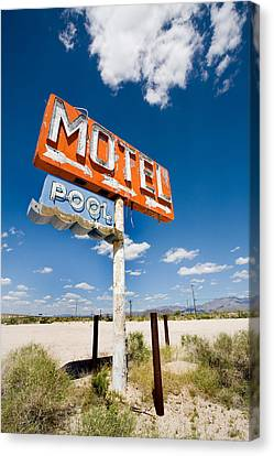 Abandoned Motel Canvas Print by Peter Tellone