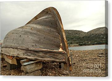 Abandoned Nafplio Fishing Boat Canvas Print