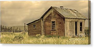 Canvas Print featuring the photograph Abandoned by Nick  Boren