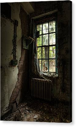 Abandoned - Old Room - Draped Canvas Print by Gary Heller
