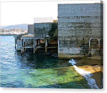 Canvas Print featuring the photograph Abandoned On Cannery Row by Paul Foutz