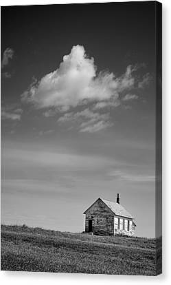 Abandoned One-room Country School Building Canvas Print by Donald  Erickson