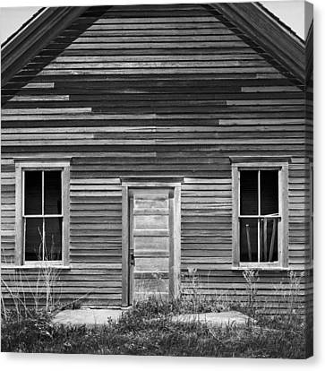 Old School Houses Canvas Print - Abandoned One-room Country School by Donald  Erickson
