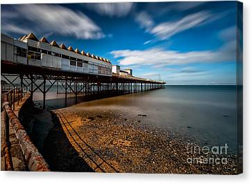 Abandoned Pier Canvas Print by Adrian Evans